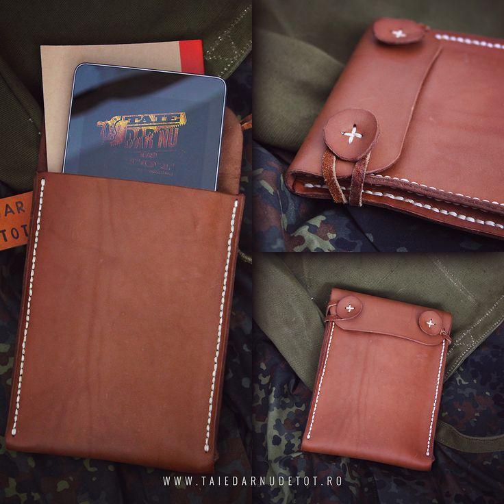 "Leather ""sleeping bag"" for my tablet. www.taiedarnudetot.ro"