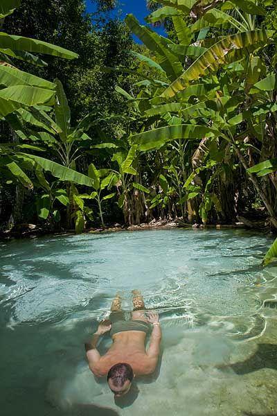 Fervedouro, no Jalapão, Tocantins, Brasil. Os fervedouros são verdadeiros oásis…