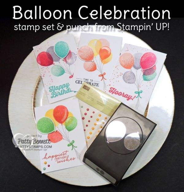 Balloon Celebration Cards with Wink of Stella pen