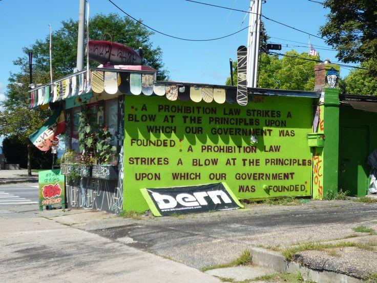 USA, green skateboardshop