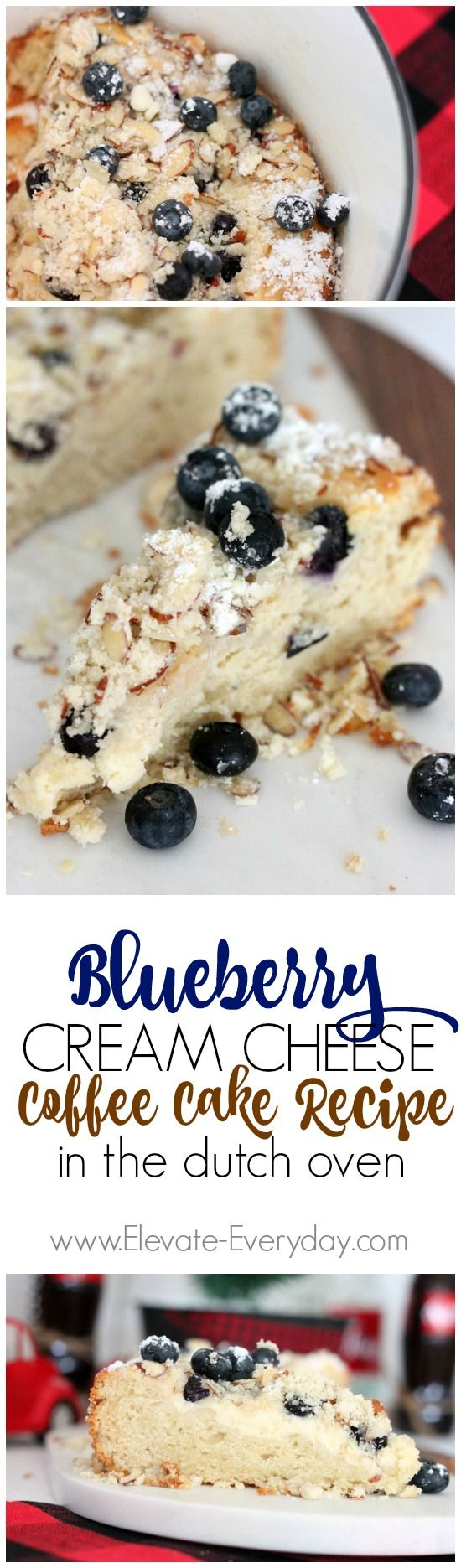 Dutch Oven Blueberry Cream Cheese Coffee Cake Recipe.