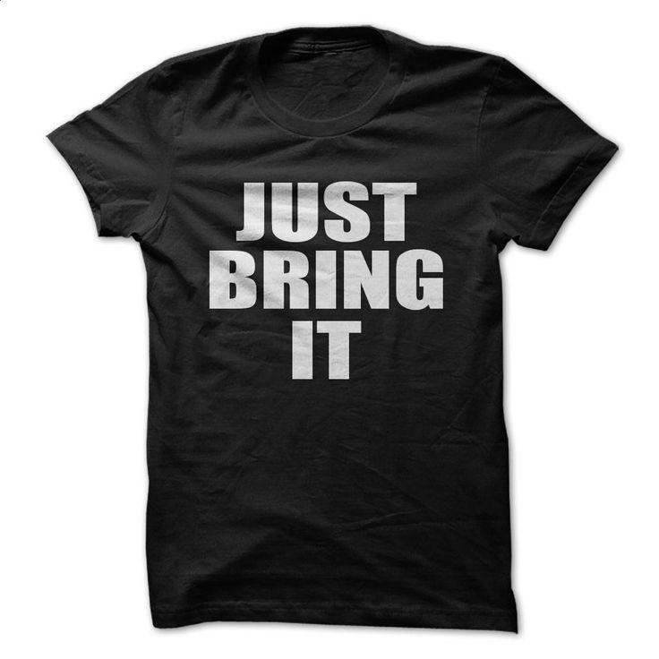 THE ROCK JUST BRING IT T Shirts, Hoodies, Sweatshirts - #cool sweatshirts #cheap tee shirts. CHECK PRICE => https://www.sunfrog.com/Sports/THE-ROCK--JUST-BRING-IT.html?60505