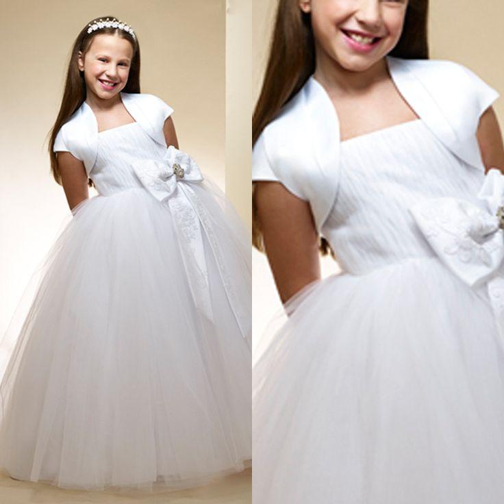 Цветок девочка платья с курткой мяч платья официальный платье велюр поклонился цветок девочка платья для свадьбы
