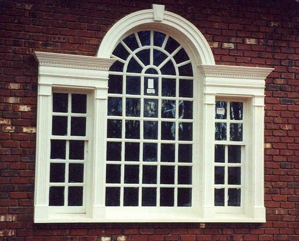 This Is A Palladian Window Because It Is A Large Window Consisting Of A  Central Arched