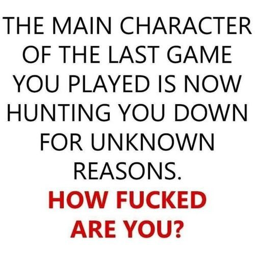 My chain smoking, bounty hunting, serial prostitute killing, lesbian assassin from GTAV Online... So, I'm fucked both literally and figuratively.