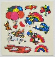 I remember getting these shiny stickers out of quarter machines