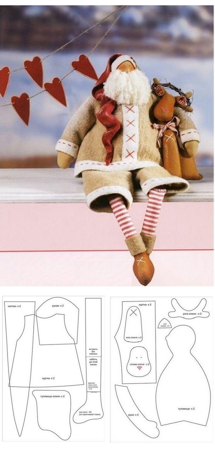 Santa cloth doll pattern