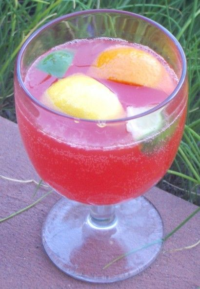 Faux Texas Twister Drink ngredients  6 whole Oranges  6 whole Lemons  6 whole Limes  ⅓ cups Grenadine  ⅓ cups Maraschino Cherry Syrup  ¼ cups Granulated Sugar  4 cups Ice  8 cups, 7 tablespoons, ¾ teaspoons, ⅓ pinches Sprite Lemon Lime Soda  12 whole Maraschino Cherries