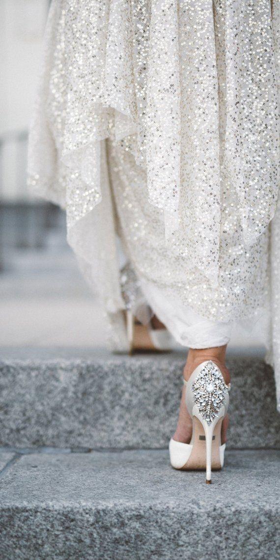 Sequined Sarah Seven Wedding Dress | Anna Delores Photography > http://boards.styleunveiled.com/pin/a1e4a9d047858b87c17707c0c4e91657