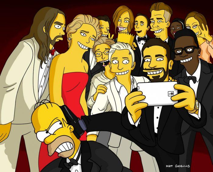 Il #selfie da #oscar in versione #simpson