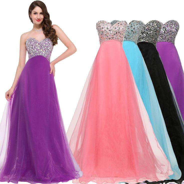 Women Formal Sequined Long Maxi Dress Wedding Party Cocktail Gown Evening Dress #BallGownEmpireWaistMaxiDress #ClubwearFormalPartyCocktail