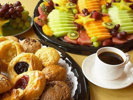 Um belo café da manhã!