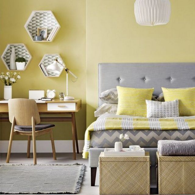 25 Lovely Yellow Aesthetic Bedroom Decorating Ideas Yellow Bedroom Decor Yellow Walls Living Room Yellow Bedroom Walls