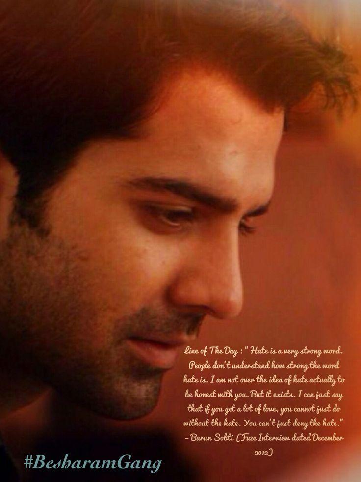 Barun Sobti defines perfection