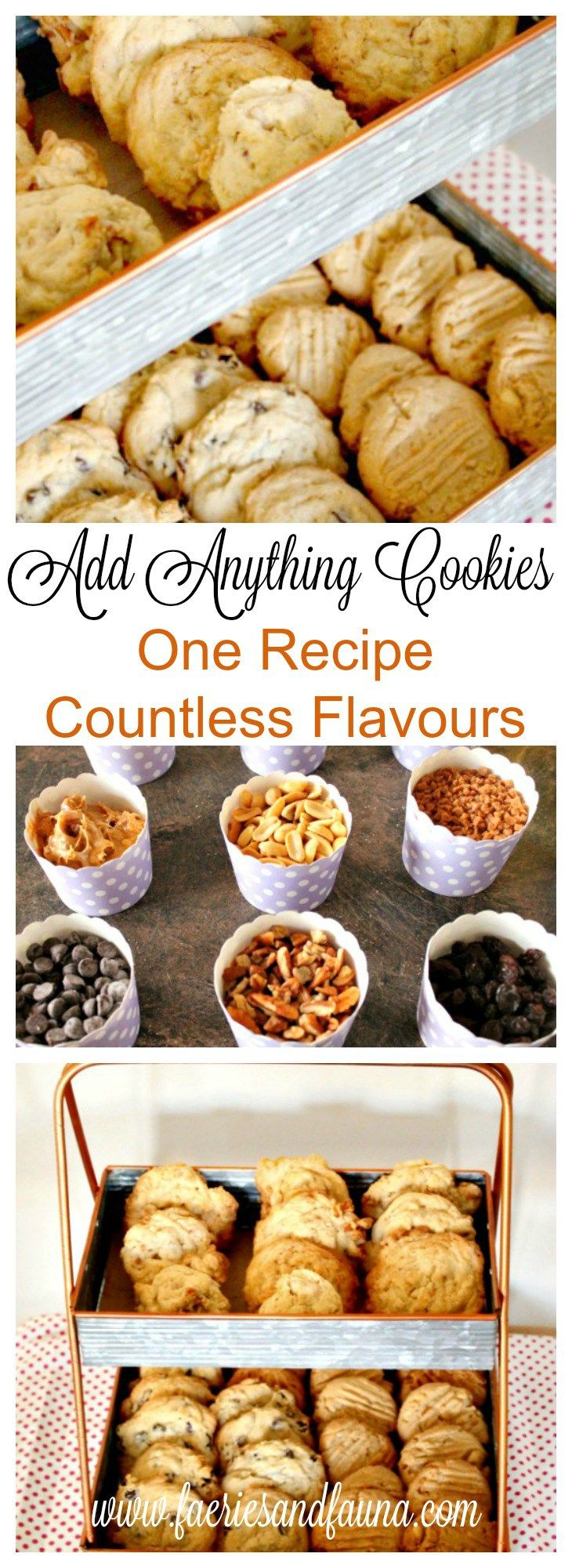 Cookie Recipe, Drop Cookies, Cookies, Chocolate Chip Cookie Recipe, Peanut Butter Cookie Recipe, Coconut Cookies Recipe, Raisin Cookie Recipe, Add Anything Cookie Recipe, Add Anything Cookies