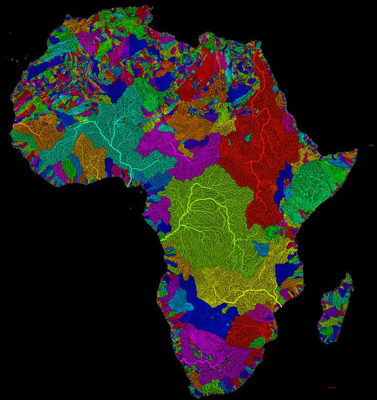 Africa Watersheds / River Basins