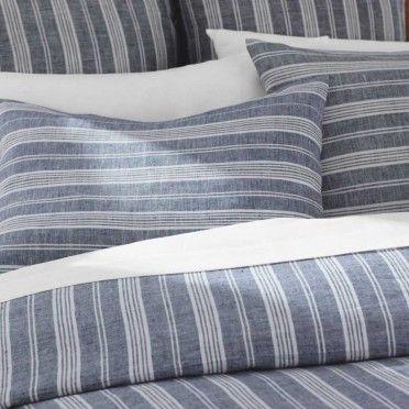 seasonal stripes linen bedding vivaterra i like these