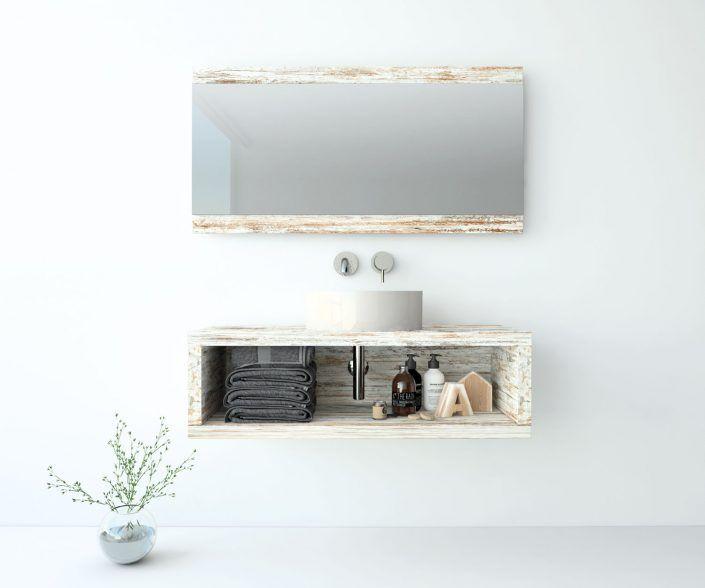 Muebles de baño a medida. Ejemplo de acabados en madera natural, laminados, lacas brillo o mate, etc.  unibaño-compactos-acabados-17