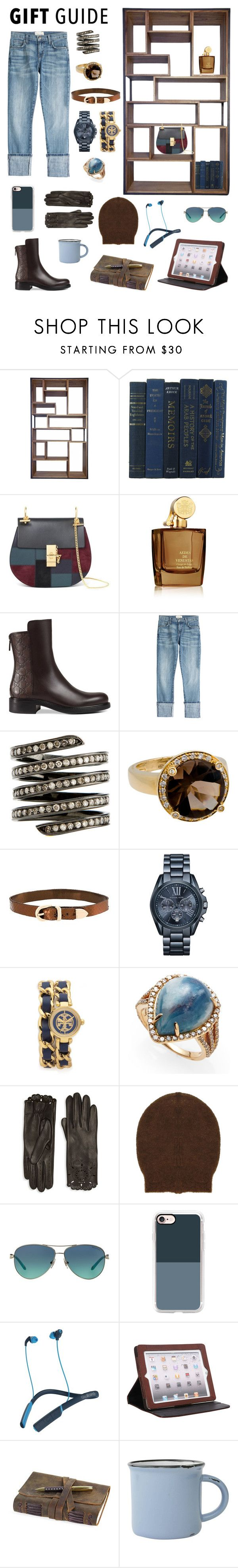 """""""Because I'm worth it."""" by stacy-hardy ❤ liked on Polyvore featuring Chloé, Aedes De Venustas, Gucci, Current/Elliott, Lynn Ban, Poiray Paris, Manokhi, Michael Kors, Tory Burch and Bavna"""