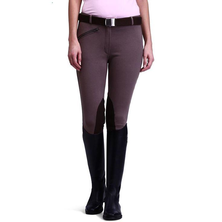 Mujeres Pantalones de Equitación Ecuestre Pantalones Deportivos Legging Damas Rodilla Parche Jodphurs Riding Pant