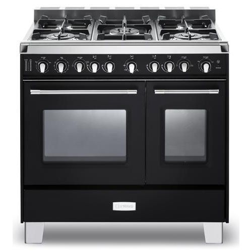 Verona Classic Series 36  Gas Double Oven Range-Black