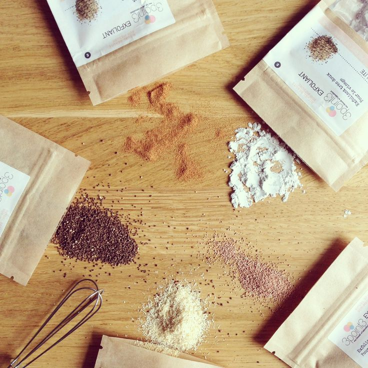 Exfoliants naturels pour gommage sur-mesure / Homemade scrub #recette #cosmetique #cosmetiquemaison #madeinfrance #bretagne #cosmetiquebio #bio #organic #homemadecosmetics #beauté #naturelle