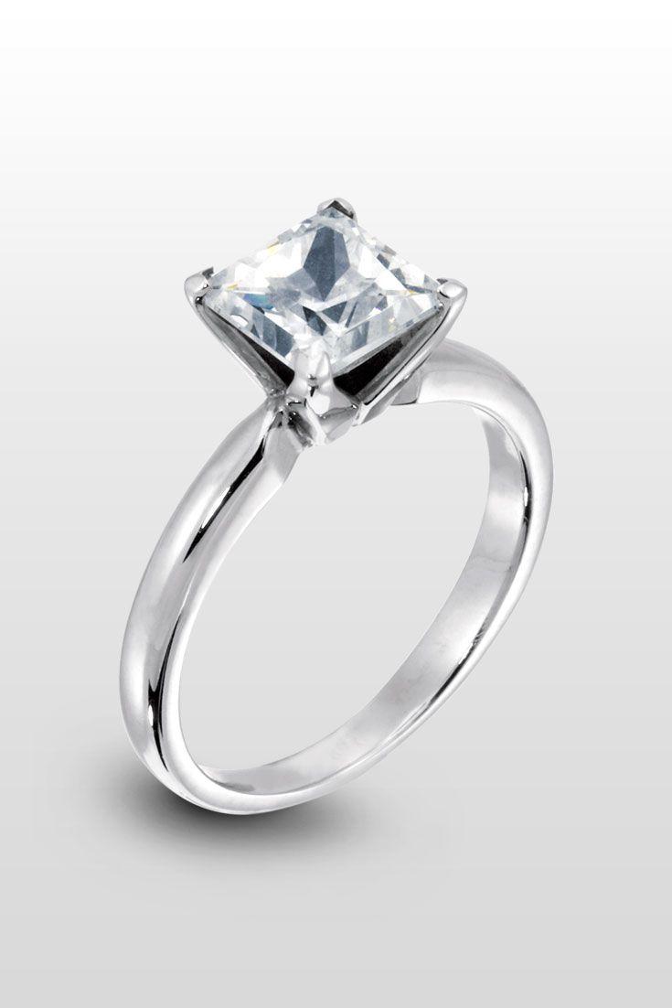Tiffany Princess Cut  A Classic And Sleek Engagement Ring The Princess  Cut Center Stone