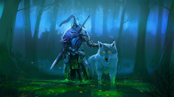 Artorias And Sif Wallpaper Google Search Gaming