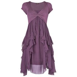 Phase Eight Made in Italy Kells Capped Sleeve Dress, Aubergine