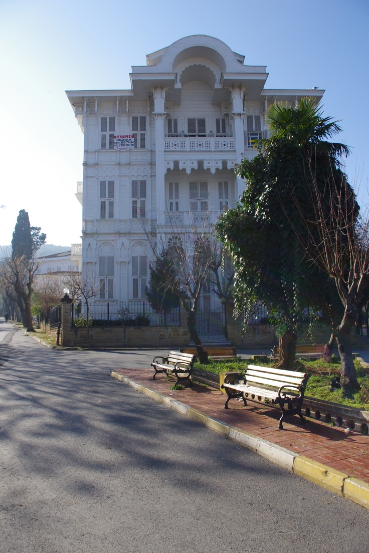 An old mansion in Buyukada (Big island in Turkish), one of the Prince's Islands in Istanbul, the biggest one