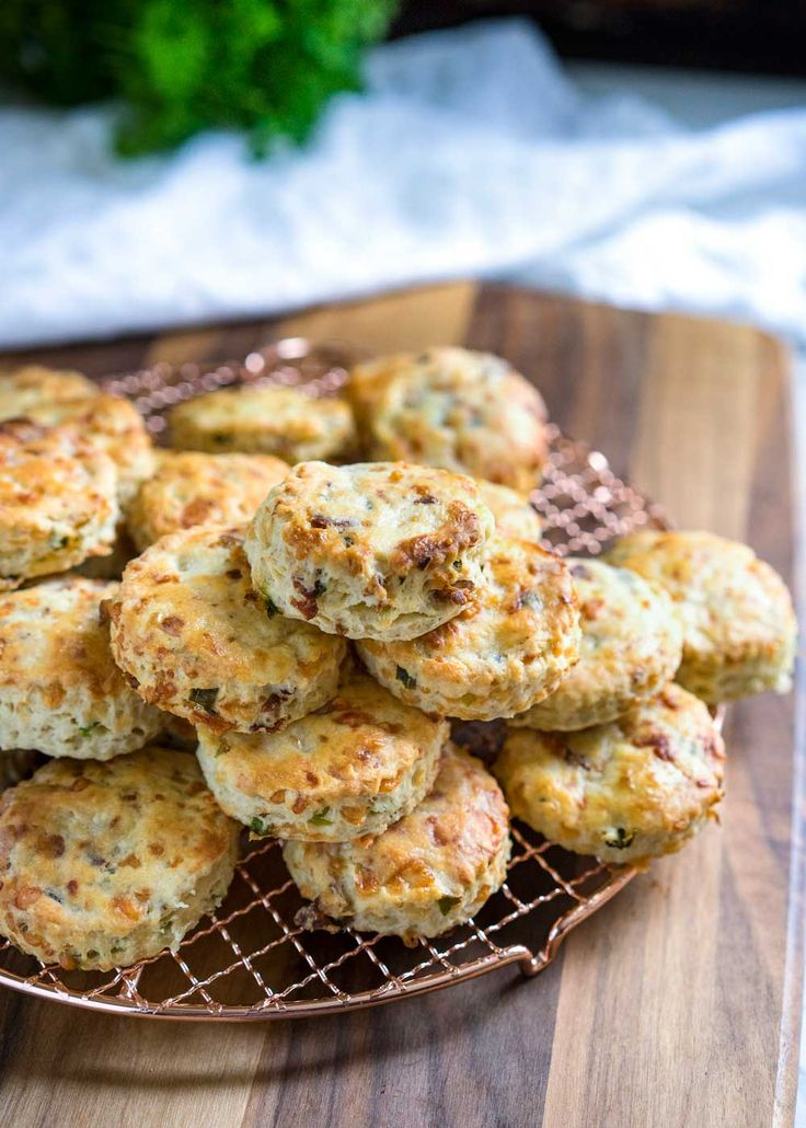 These Buttermilk Biscuits are loaded with bacon, green onion and Gruyere cheese, baked to a golden brown and perfect with soups, stews and holiday dinners. www.keviniscooking.com