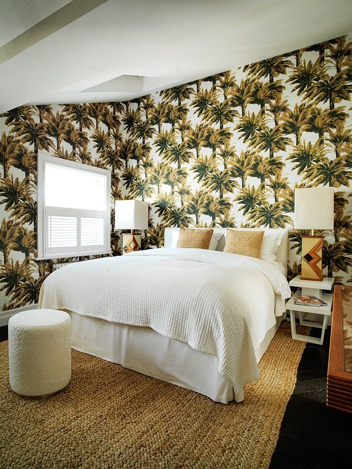 Tropical mood with the pierre frey mauritius wallpaper design by caroline legrand