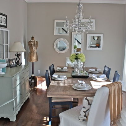 Sherwin Williams Mindful Gray Living Room