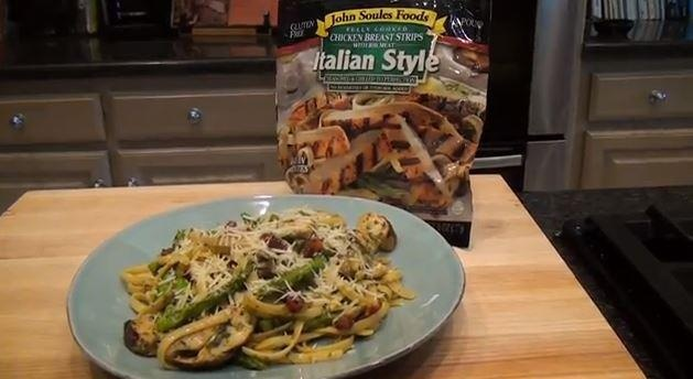 Want to make this Grilled Italian Style Chicken Pasta for dinner tonight? You can in just minutes! Watch Chef Lance in this week's video recipe and then LEAVE A COMMENT for him on our Youtube channel to qualify to WIN 2 packages of John Soules Foods Italian Style Chicken Breast Strips! Click on image to watch video and leave comment!