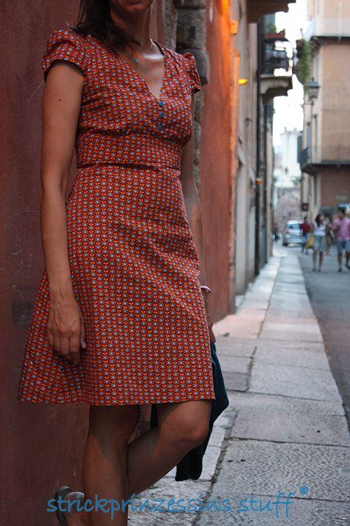 Simplicity 2/12 New Look 6069 Kleid nähen