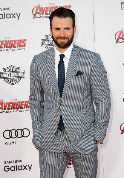 Actor Chris Evans arrives for the Premiere Of Marvel's 'Avengers Age Of Ultron' held at Dolby Theatre on April 13 2015 in Hollywood California