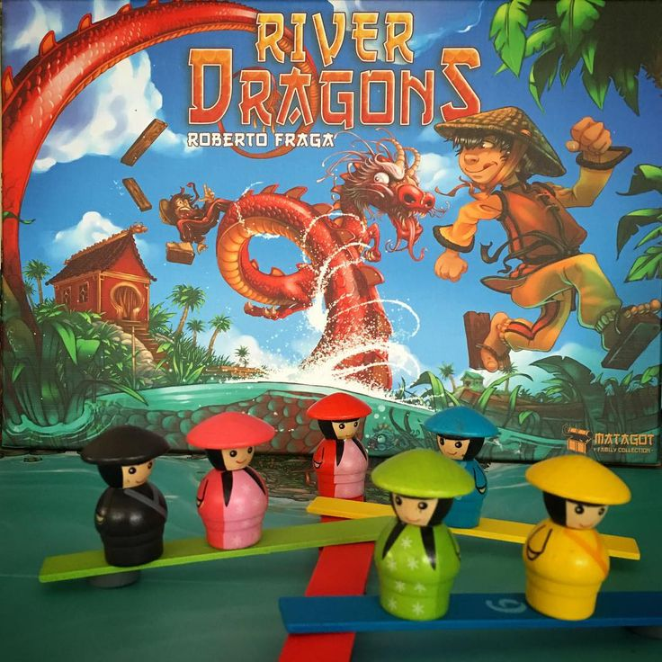 River Dragons is such a pretty game. Who doesn't love those cute player pieces and little planks! #RiverDragons #Matagot #Asmodee #tabletop #tabletopgame #tabletopgamer #tabletopgames #boardgamer #boardgame #bgg #boardgamegeek #boardgames #socute #dragons #juegosdemesa #brettspiel #RobertoFraga #familygames #drachendelta