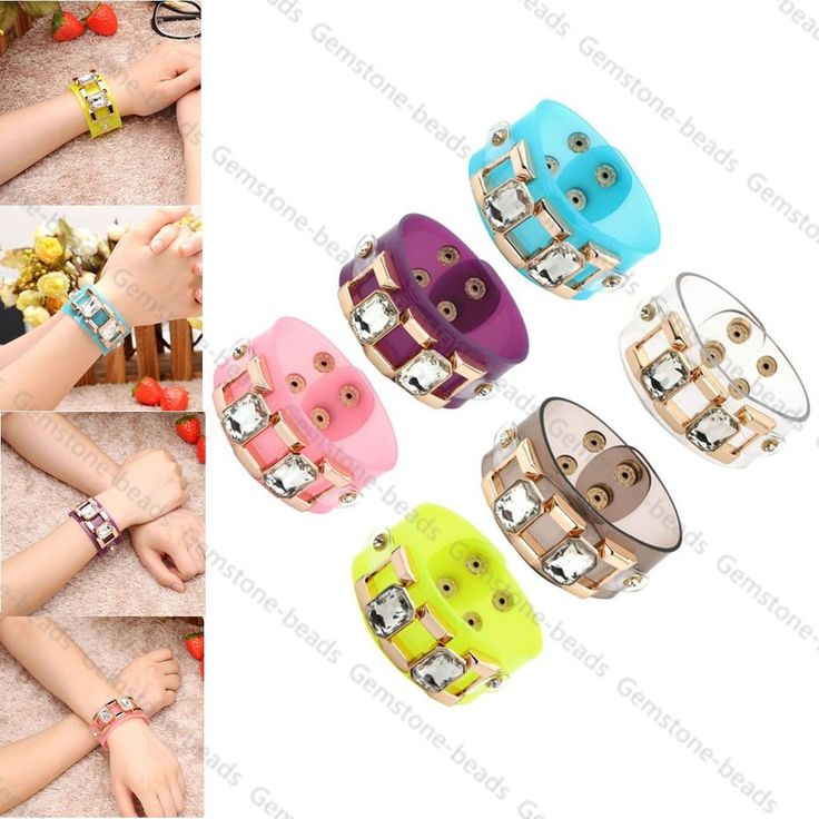 Women PVC Resin Square Crystal Bling Bangle Bracelet Chunky Cuff Wristband New #Unbranded #Bangle  http://www.ebay.com/itm/Women-PVC-Resin-Square-Crystal-Bling-Bangle-Bracelet-Chunky-Cuff-Wristband-New-/231465979288?pt=LH_DefaultDomain_0&var=&hash=item7b91c52dc9
