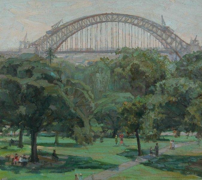 Sydney harbour bridge Under Construction: Eric Wilson.