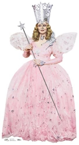 Glinda the Good Witch - The Wizard of Oz Cardboard Cutout Standup Prop    Glinda the Good Witch from the movie,The Wizard of Oz.    Size: 6  Please allow 2-3 weeks for delivery.