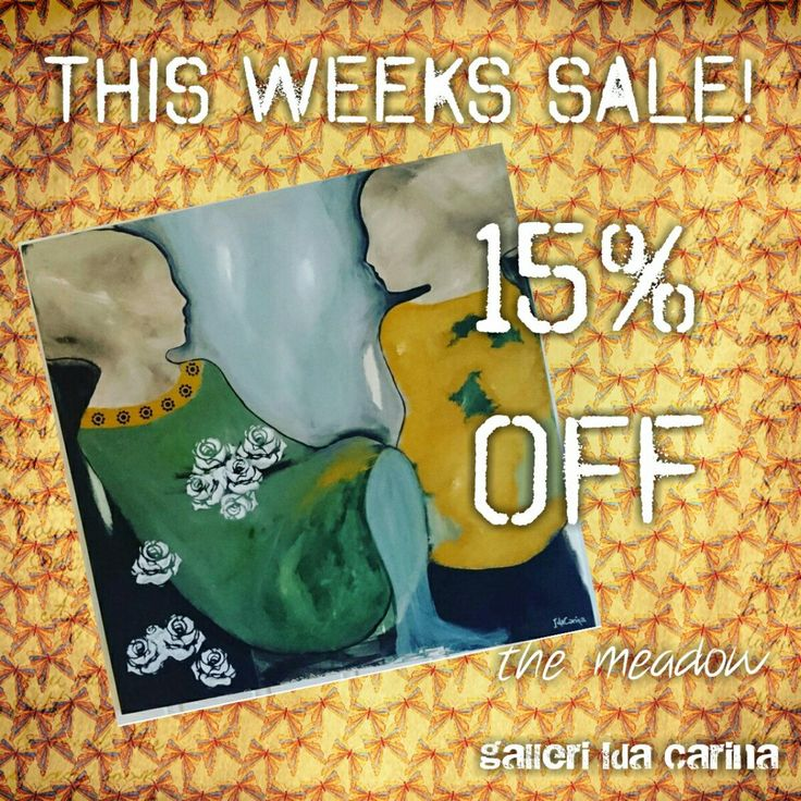 "This weeks sale is ""the Meadow"" with 15% off! Yay!"