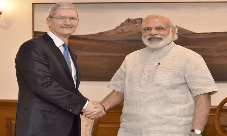 एप्पल सीईओ प्रधानमंत्री से मिले, मोदी एप लांच