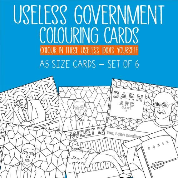 Colouring In Pages Uk Government Inspired Set Of 7 X A5 Etsy Colouring Pages Coloring Pages Color Card