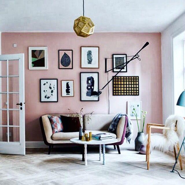 Buscando inspiración para decorar mi salón... A ver si me decido de una vez  #deco Rosa y negro? Sí? No?