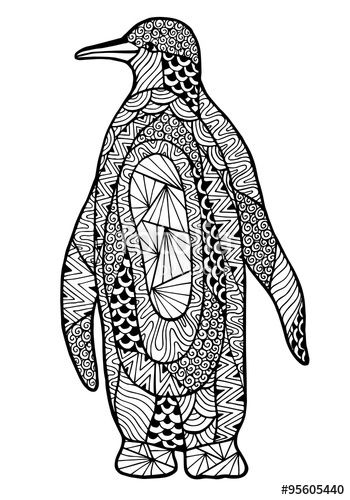 321 best images about under the sea coloring pages for for Penguin adult coloring pages