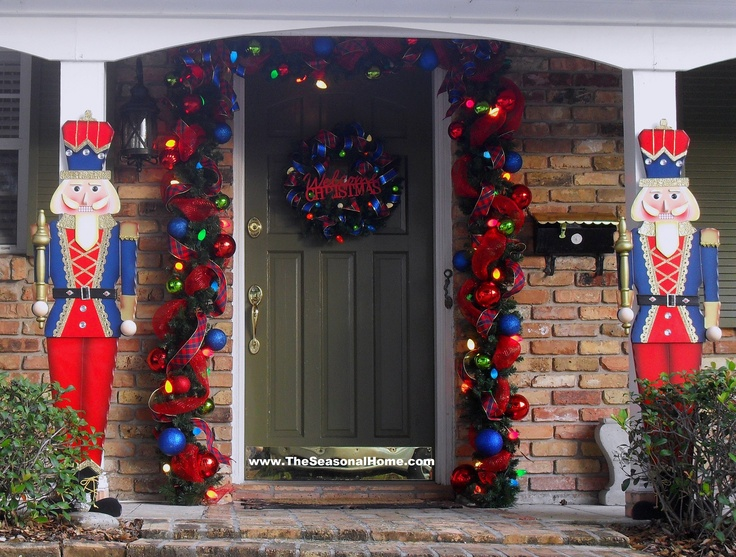 Nutcracker Front Porch From The Seasonal Home Blog Christmas Pinterest Christmas Decor