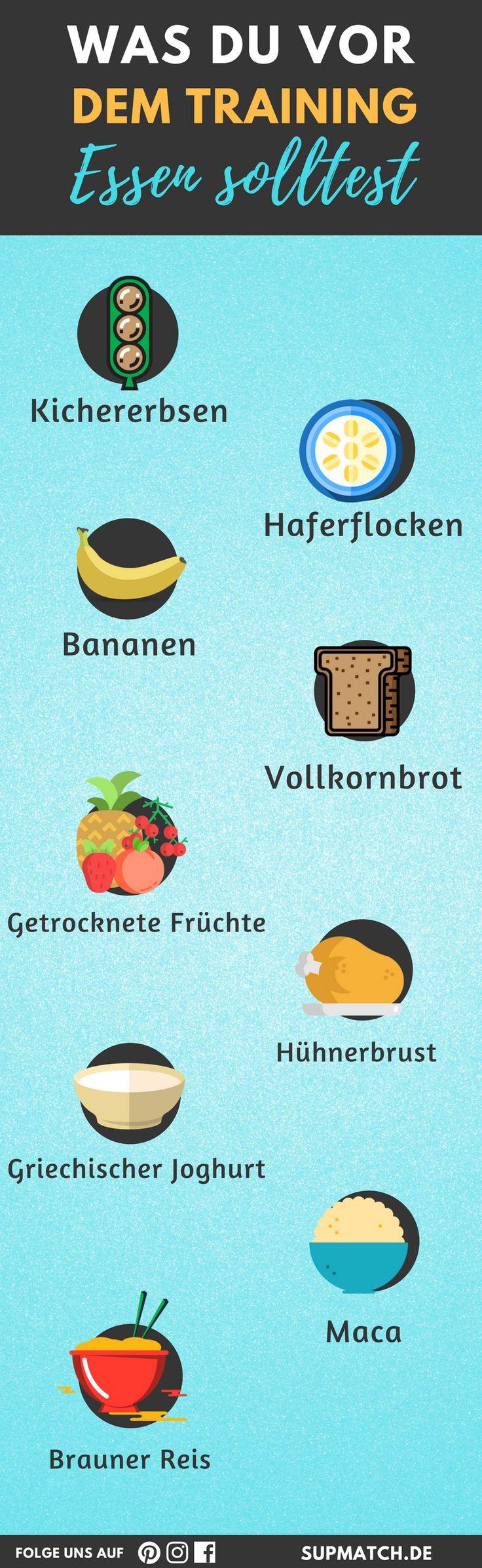 Was du vor dem Training essen solltest.