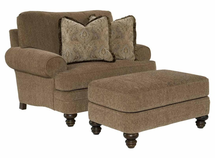 marion oversized chair with ottoman by kincaid furniture. Black Bedroom Furniture Sets. Home Design Ideas
