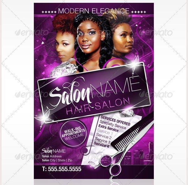 78 Beauty Salon Flyer Templates Psd Eps Ai Illustrator Pages Gambar