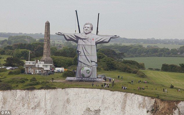 """An eight-ton, 100ft-tall sculpture of Roy Hodgson gained Paddy Power a lot of media attention last week, erected on the cliffs of Dover to coincide with the start of Euro 2012. The giant board-built statue is a humorous rehash of the world-famous Christ the Redeemer statue found in Rio de Janeiro. The bookie hoped the sculpture would """"unsettle"""" the French. PR agency Taylor Herring made sure the image – and Paddy Power – found its way into most of the nationals."""
